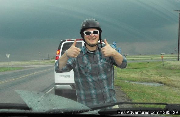 Thumbs up for fun - Tornadic Expeditions Storm Chasing Tours