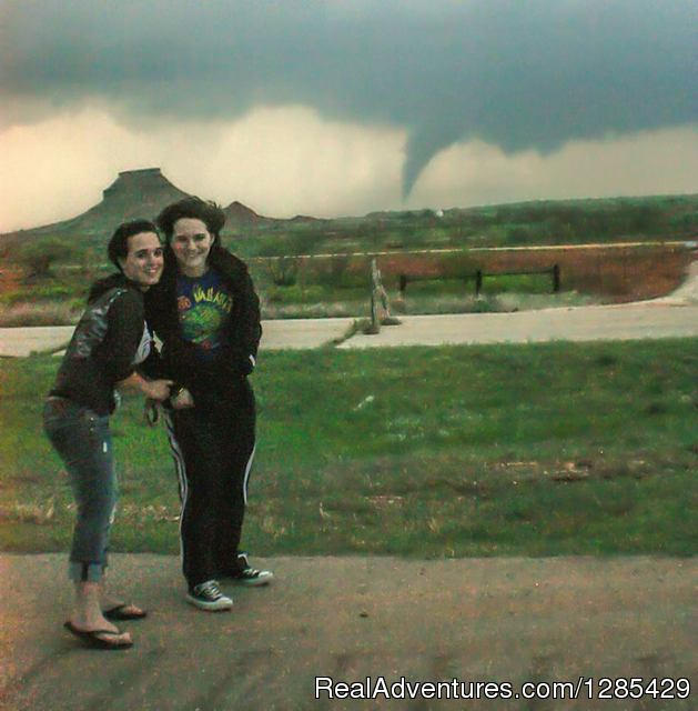 Sisters experiencing the thrill - Tornadic Expeditions Storm Chasing Tours