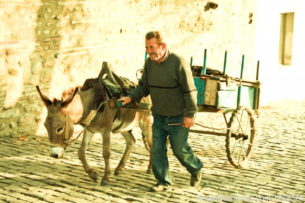 Local with donkey | Image #4/10 | Full Day Private Wine Tour
