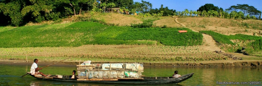 Boat tour in Bandarbans hill district