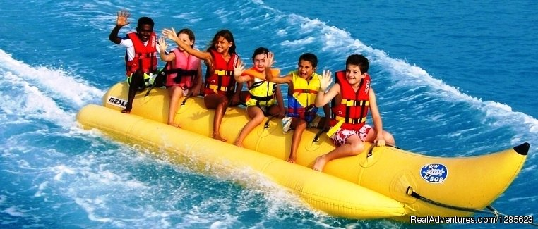 Banana boat ride in Goa | Image #2/3 | Water Sports combo pack at Aqua Sports Goa