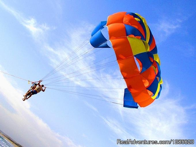 Glide through the air going parasailing on a specially designed canopy wing. As well as get to experience Jet Ski rides, Bumper rides and Banana boat Rides in Goa along with your family and friends . All our water sports activities are done with trai