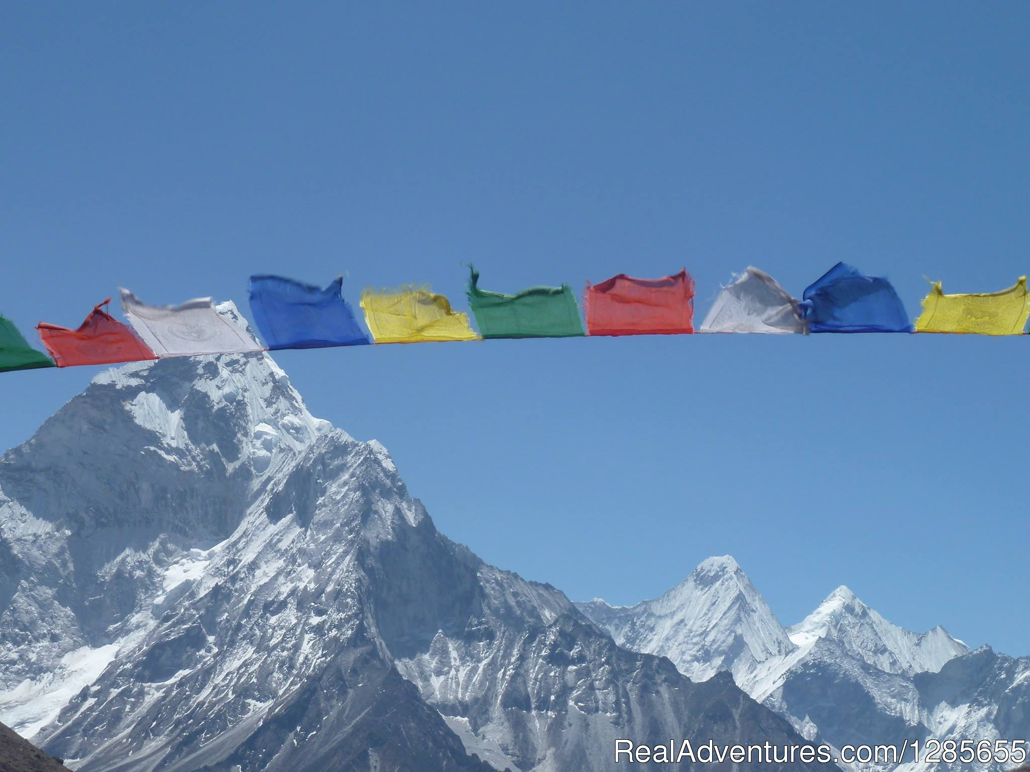 Pry flag with view of Everest range