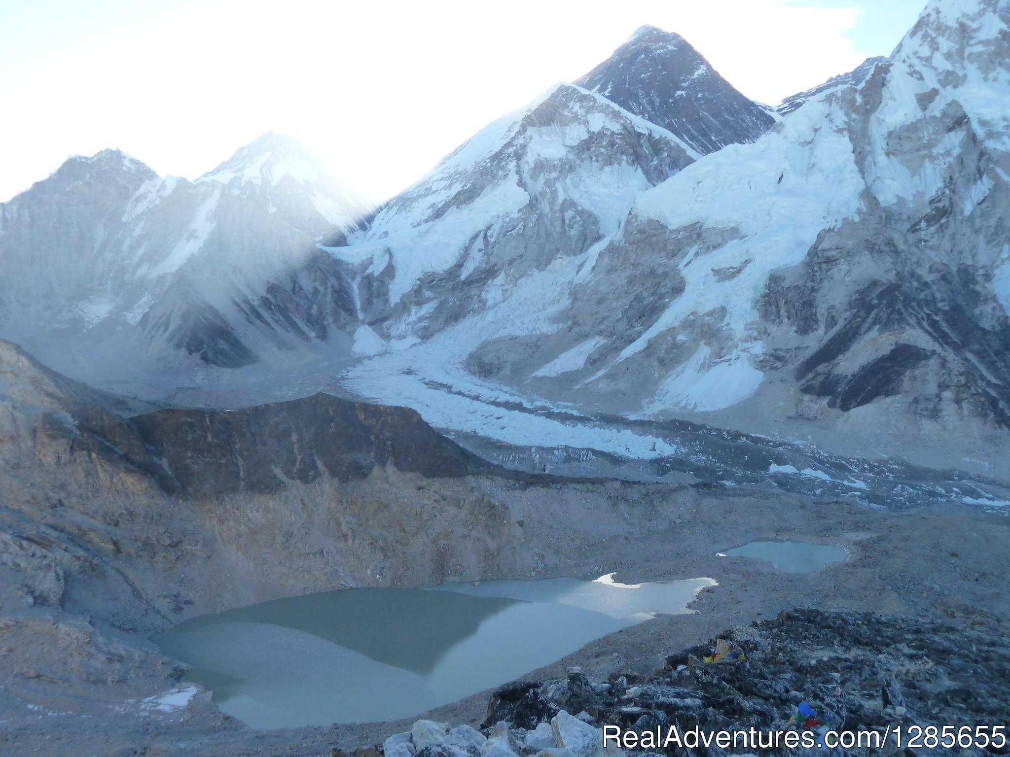 Khumbu glacier,and view of Everest