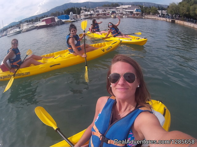 Happy people on our sea kayaking tour - Sea Kayaking Tour in Split, Croatia