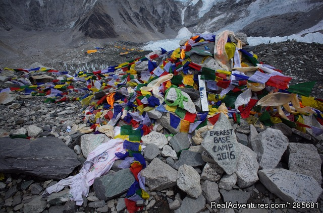 Trekking in Nepal: At Everest Base Camp 5360m