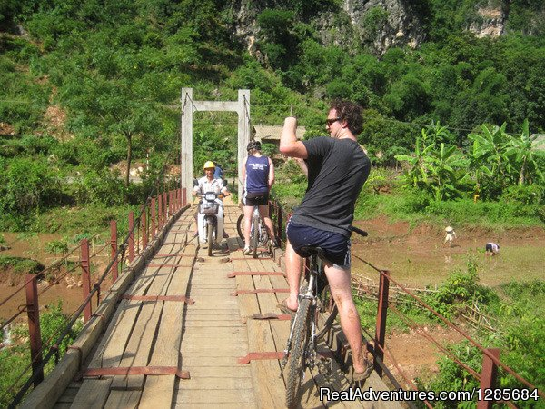 on the Wooden Bridge in the Fareast northern Area | Image #2/19 | Vietnam highlight tours, Luxury Vacation Packages