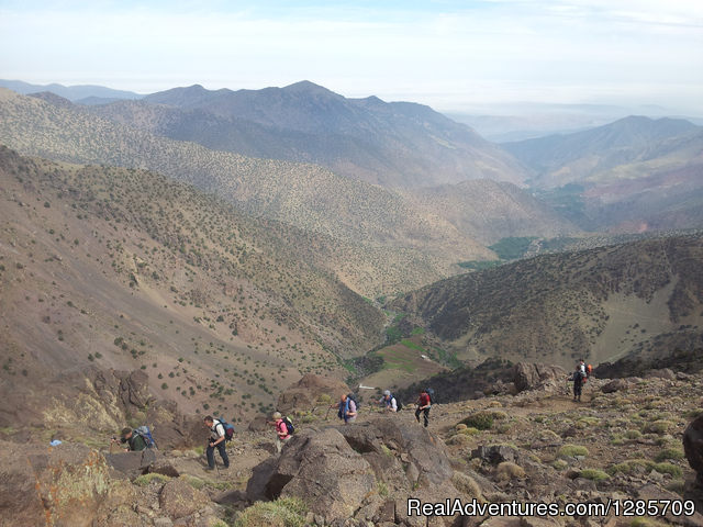 Ascent to Tizi  n'Aglzim - Atlas Mountains Morocco- Berber Villages & Mt Toub