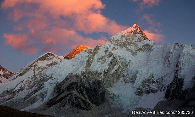 Golden view of Mt. Everest from Kalapatthar | Image #2/3 | Everest Base Camp Trek with Himalayan Expert Team