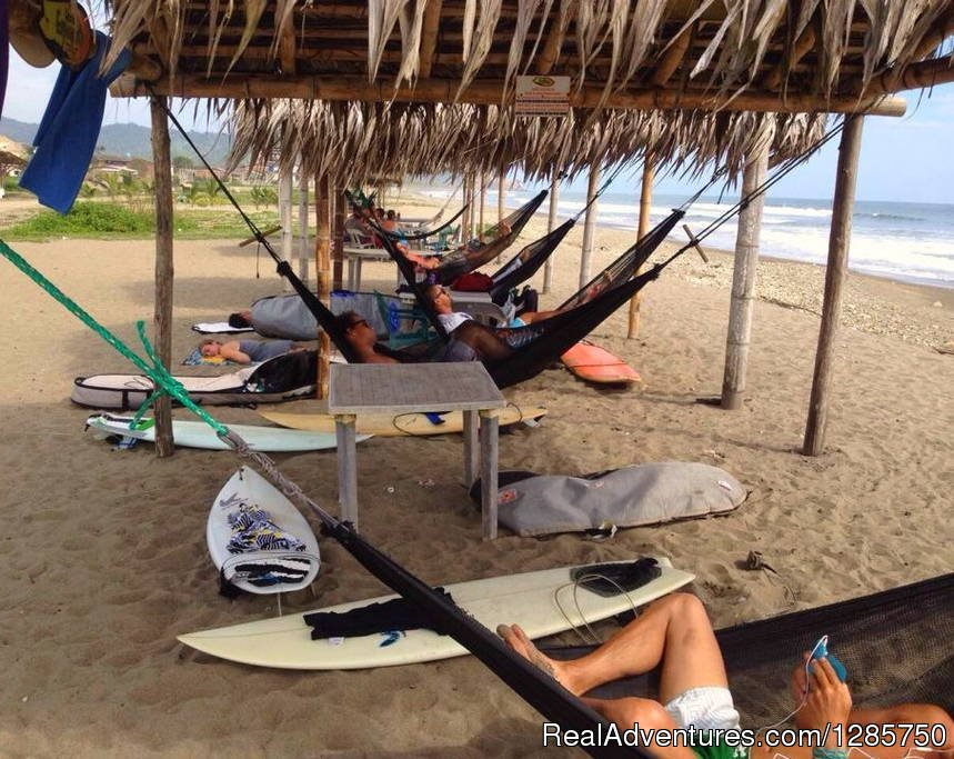 Taking a siesta after surfing Las Tunas beach