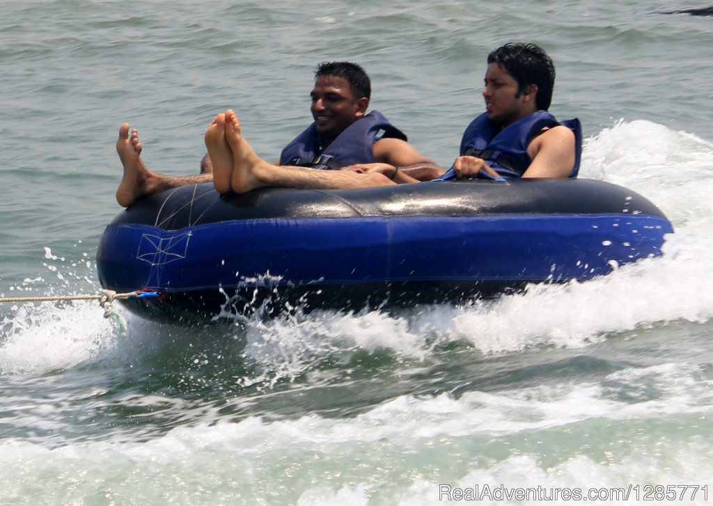 Bumper Boat Ride at goa water world