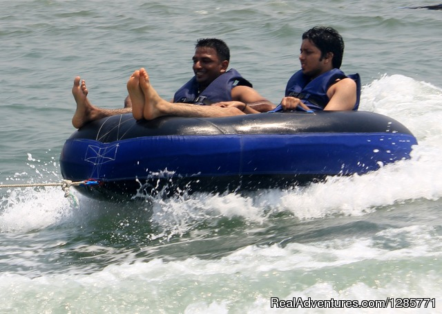 Bumper Boat Ride at goa water world - Scuba Diving and 20+ adventure water sports Baga.