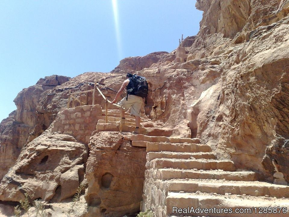Climbing in Petra | Image #2/3 | trip to Petra with mytriptoPetra