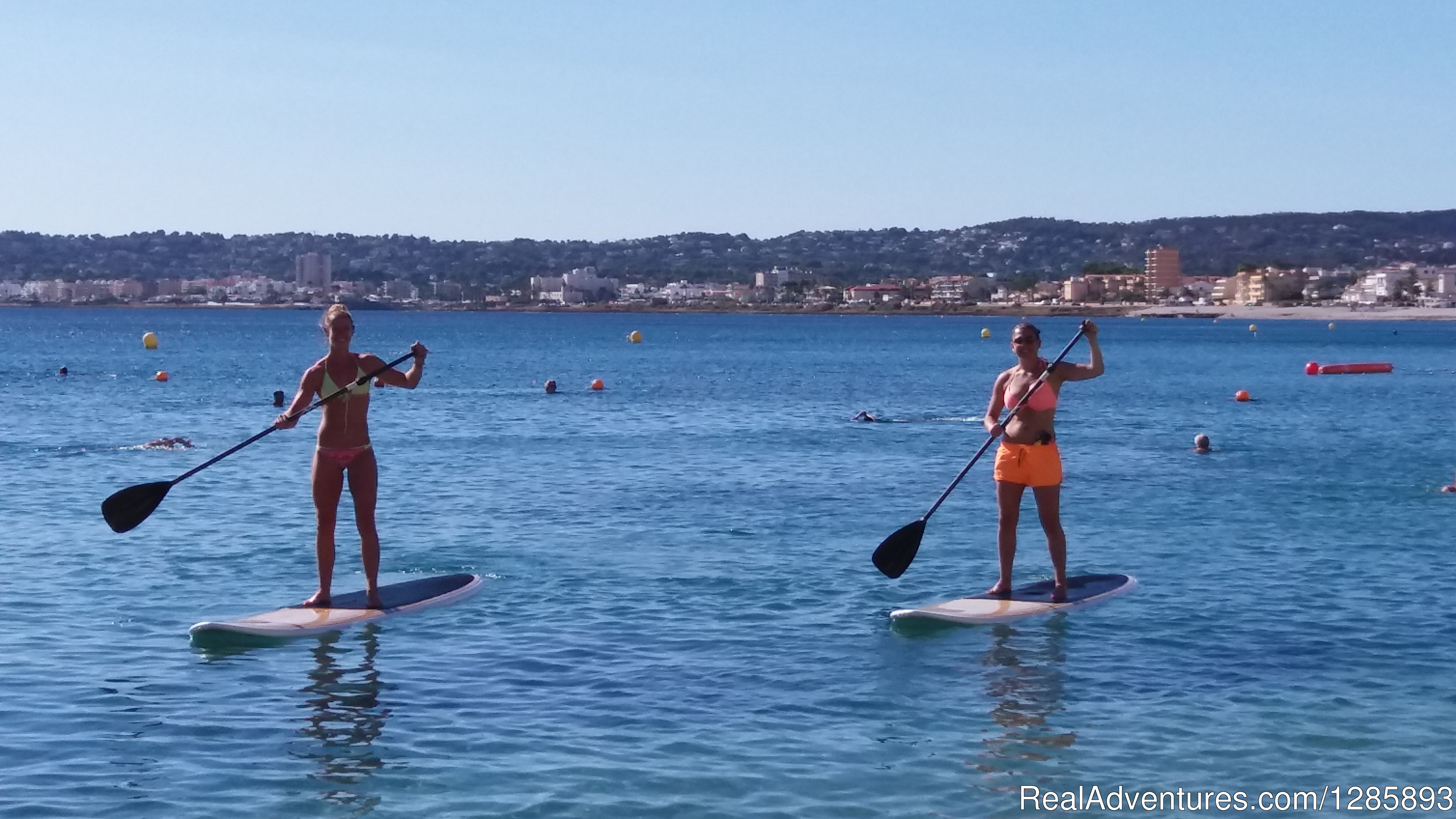 Stand Up Paddle Boarding on crystal clear waters