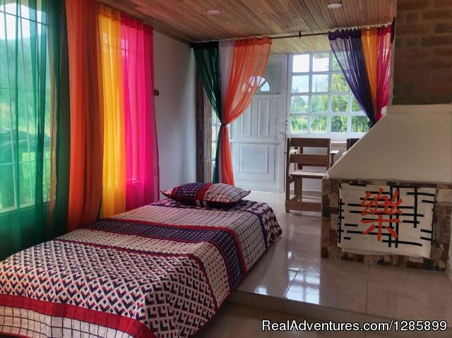 TheLostLeprechaun Ecohostel, Twin Room Entrance - South Colombia adventure