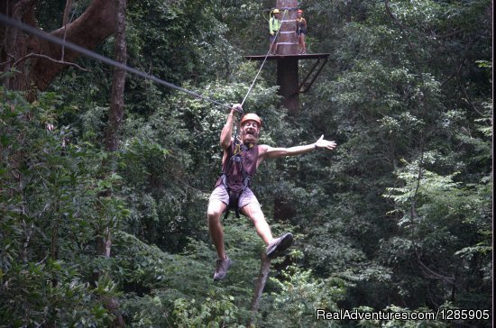 Spend a part of your holiday in the rainforest on Langkawi island, Malaysia flying Umgawa Legendary Adventures' zipline eco-canopy tour, which includes 12 ziplines, 3 sky-bridges, spectacular views and abundant wildlife.