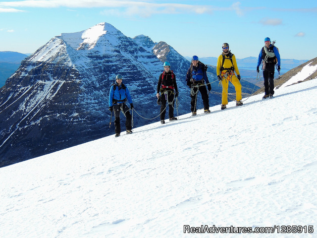 The Torridon mountains in winter - Sea kayaking & Mountaineering in stunning Scotland