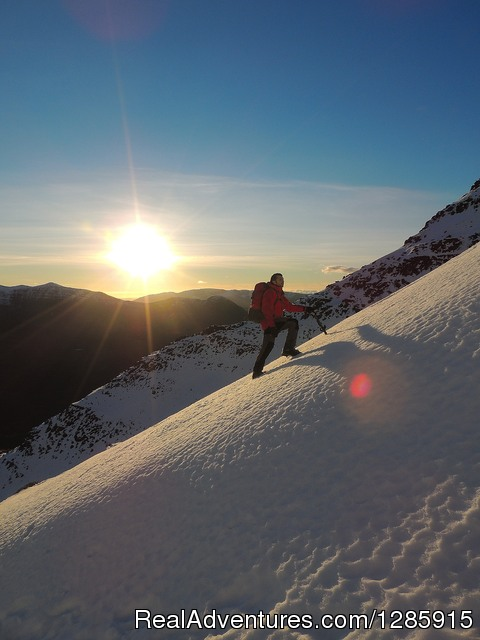 Winter mountain ascent, the Torridon mountains - Sea kayaking & Mountaineering in stunning Scotland
