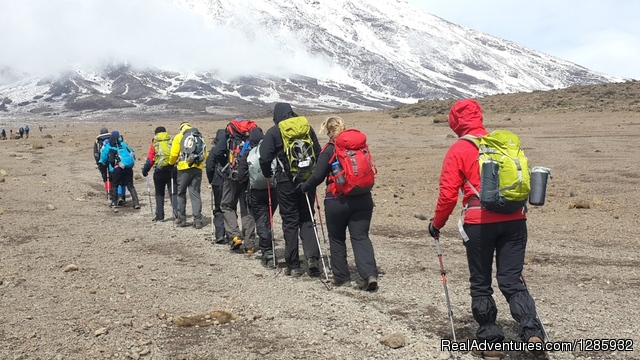 Good scenery of Mt Kilimanjaro - Kilimanjaro climb from $1196 by local operator