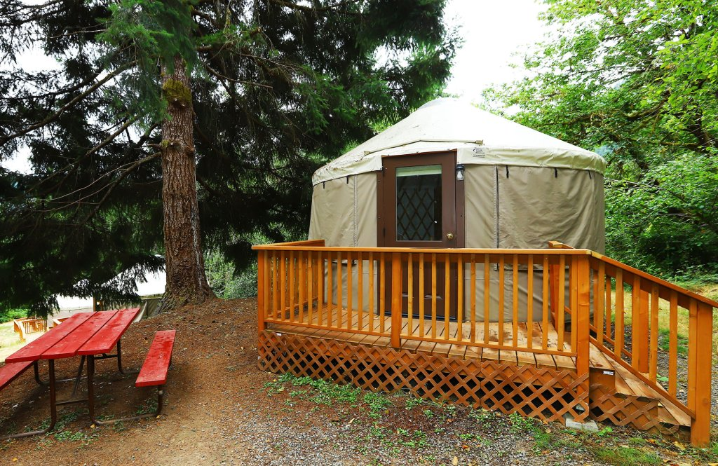 Yurt - Exterior | Image #8/10 | Loon Lake Lodge and RV Resort