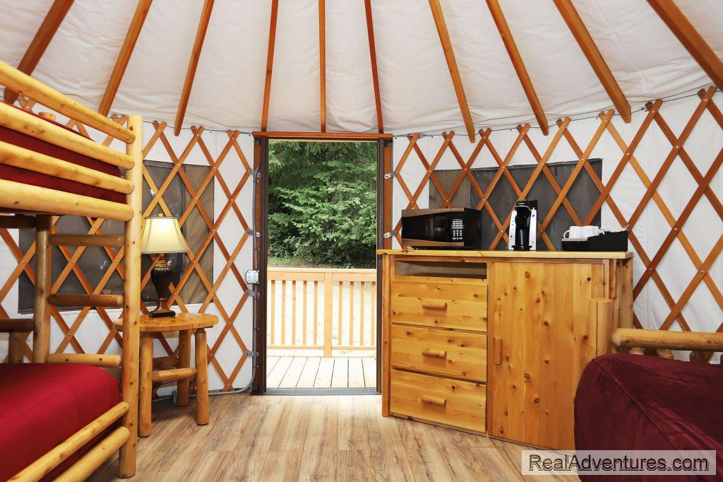 Yurt - Interior | Image #9/10 | Loon Lake Lodge and RV Resort
