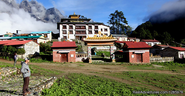 Tengbohe Monastary - Mountain Kick- Adventure in the Himalayas