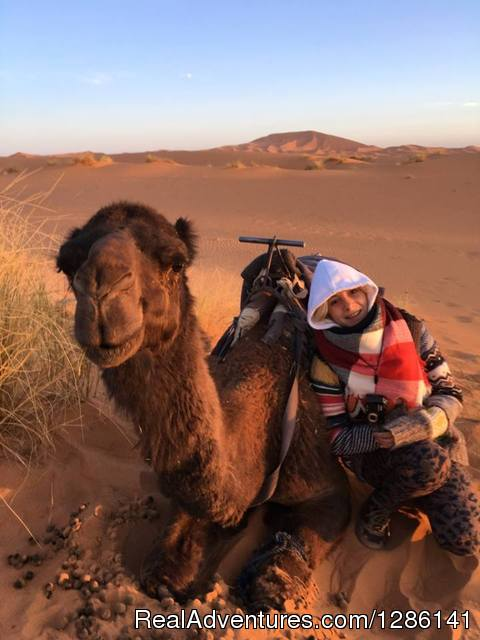 Camel ride - Night in Merzouga desert by Camel ride