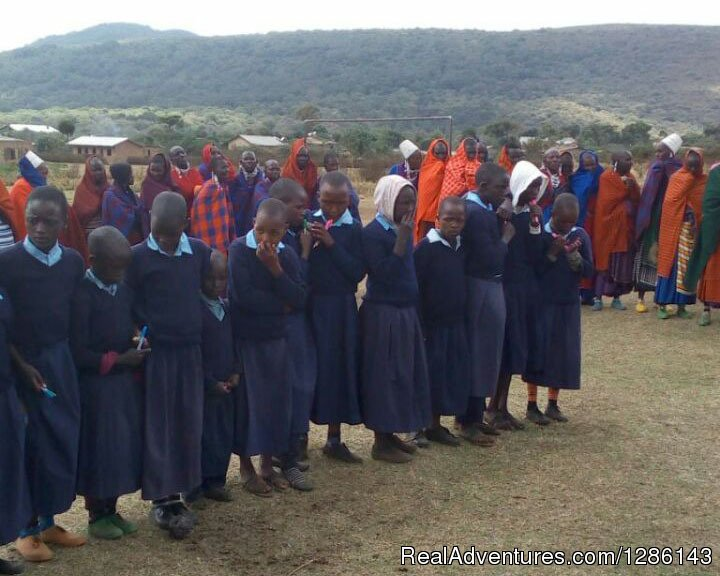 Girls starting boarding school, new uniforms | Image #9/13 | Safari, Maasai Development Project