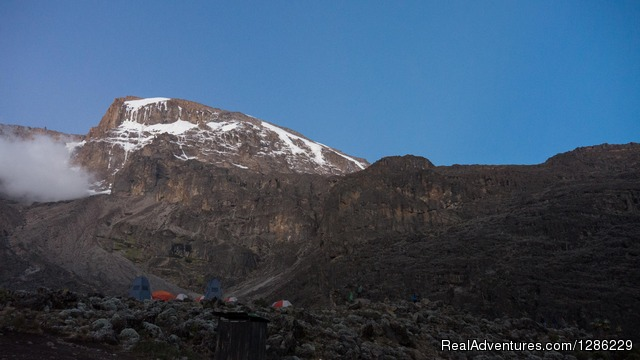 Base On The Kilimanjaro Where We Camping Before Summit - Mountain kilmanjaro lemosho Route 10 Days