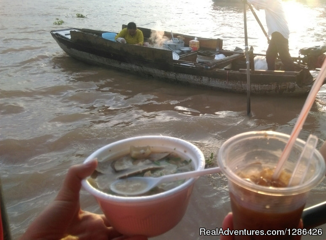 Breakfast on Cai Rang Floating Market - Saigon Private Tour
