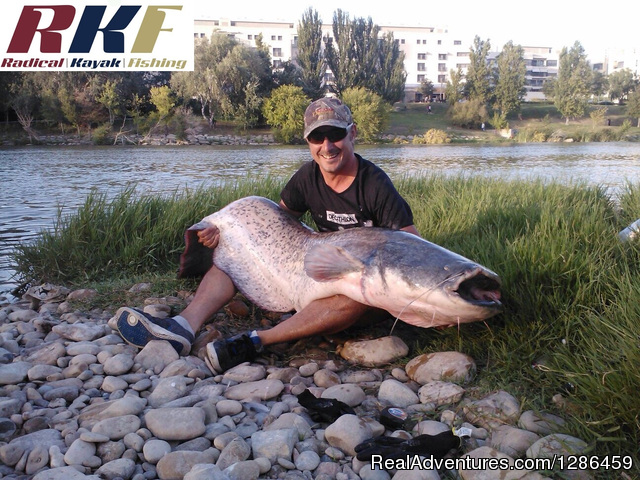 Cat Fishing From Kayak - fishing guides Ebro river Spain