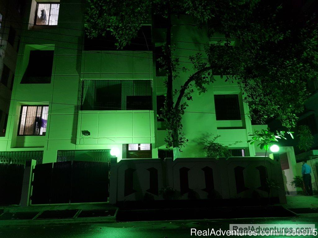 Hotel Front View In Night | Image #1/12 | Dhaka, Bangladesh | Hotels & Resorts | Green House Hotel & Tours