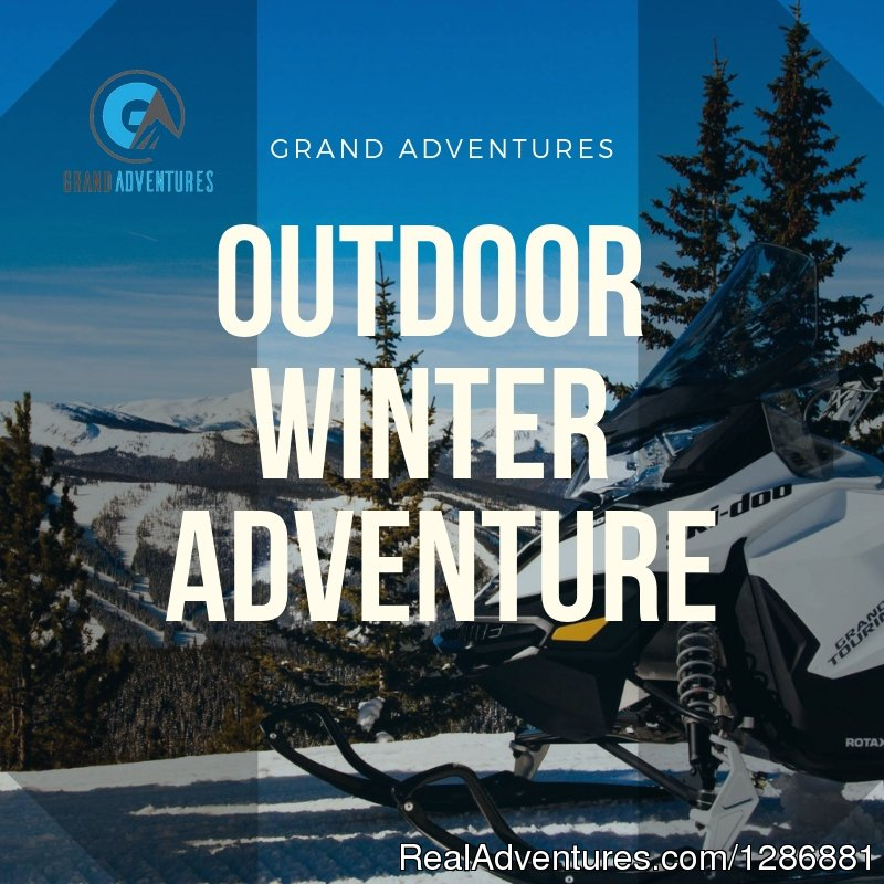 Grand Adventures offers Snowmobile tours (Guided and Unguided) from late November to Early April. Snowmobiling through grand lake & winter park things to do here. Surf through the snowy surface of Colorado snowmobile trails.