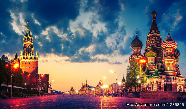 Moscow.Red Square.Kremlin and St.Bazil's Cathedral