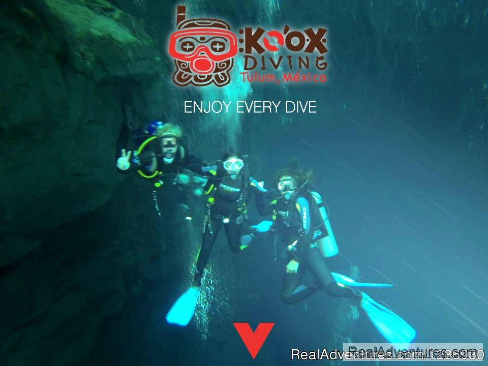 Koox Diving Cancun is a diving center located in Cancun Mexico. They offer Scuba Diving and Cenote Snorkelling near Cancun. We also offer tours to dive and snorkel in Cenotes, snorkeling with whale sharks and other activities.