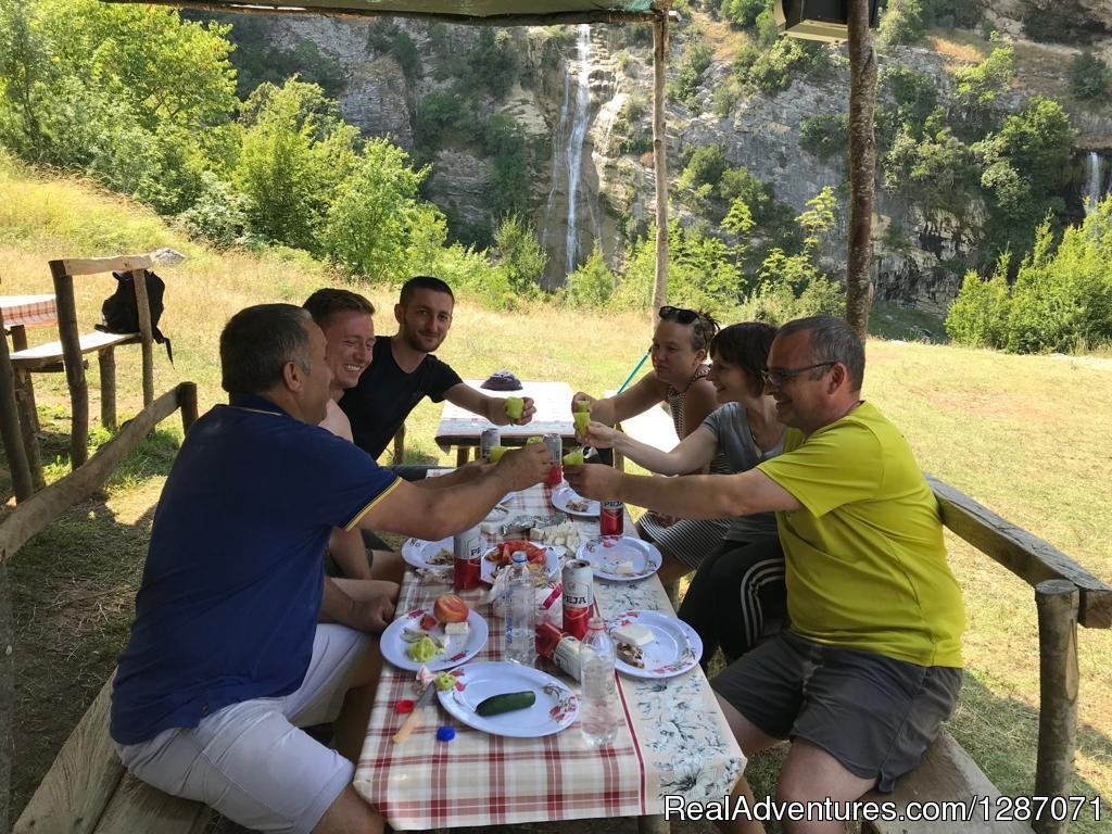 Local lunch in Tomor Mountain | Image #2/4 | Kayak, Snorkel and Hike Canyons in Albania