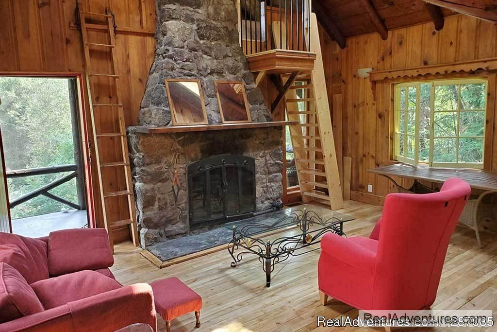 Looking for a cottage for rent in the Laurentians for your next group getaway? We invite you to discover our Cozy Cottage located in a secluded wooded area next to our renowned Nordic Spa. 2 night minimum.