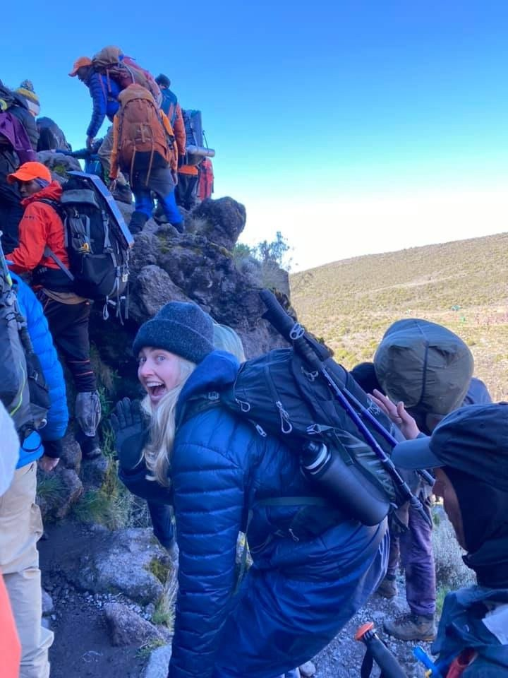 Climbing Barranco Wall | Image #3/20 | Amazing Mt. Kilimanjaro Climbs & Serengeti Safaris